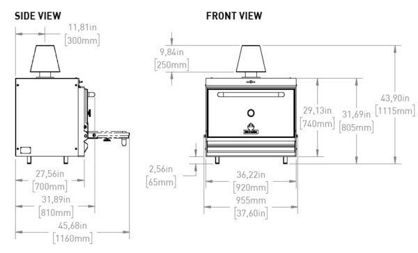 MIBRASA Charcoal Oven HMB 110 Data