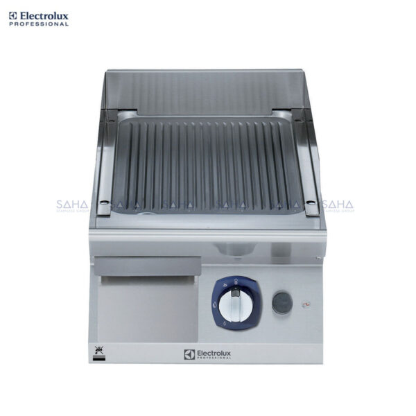 Electrolux 700XP 400mm Gas Fry Top, Ribbed Brushed Chrome Plate 371323