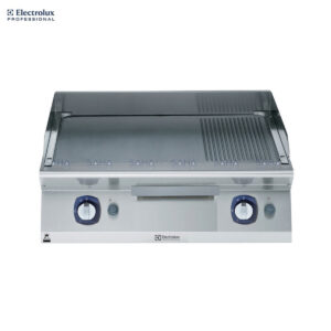 Electrolux 700XP 800mm Gas Fry Top, Smooth and Ribbed Brushed Chrome Plate 371335