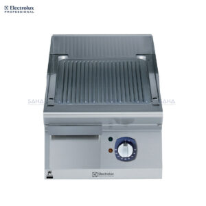 Electrolux 700XP 400mm Electric Fry Top, Ribbed Brushed Chrome Plate 371332