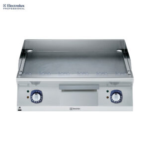Electrolux 700XP 800mm Electric Fry Top, Smooth Brushed Chrome Plate 371340