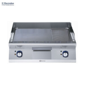 Electrolux 700XP 800mm Electric Fry Top, Smooth and Ribbed Brushed Chrome Plate 371347
