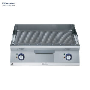 Electrolux 900XP 800mm Electric Fry Top, Ribbed Brushed Chrome Plate 391408