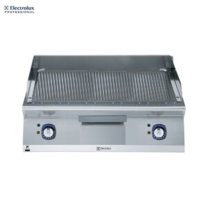 Electrolux 700XP 800mm Electric Fry Top, Ribbed Brushed Chrome Plate 371344