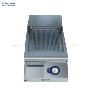 Electrolux 900XP 400mm Gas Fry Top, Ribbed Brushed Chrome Plate 391354