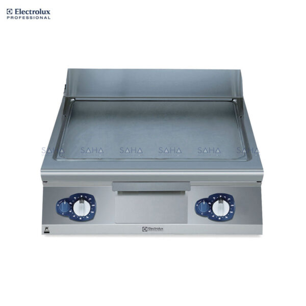 Electrolux 900XP 800mm Gas Fry Top, Smooth Brushed Chrome Plate 391401