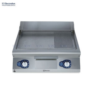 Electrolux 900XP 800mm Gas Fry Top, Smooth and Ribbed Brushed Chrome Plate 391403