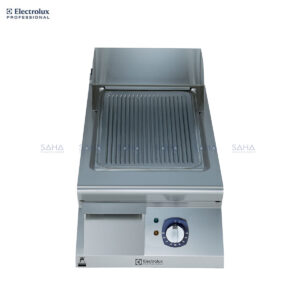 Electrolux 900XP 400mm Electric Fry Top, Ribbed Brushed Chrome Plate 391356