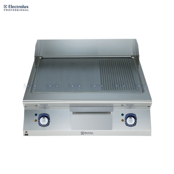 Electrolux 900XP 800mm Electric Fry Top, Smooth and Ribbed Brushed Chrome Plate 391359