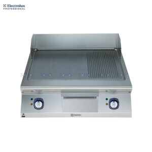 Electrolux 900XP 800mm Electric Fry Top, Smooth and Ribbed Brushed Chrome Plate 391358