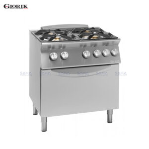 Giorik Unika 700 4 Burner Gas Range On Electric Oven CG740E