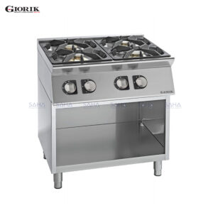 Giorik Unika 700 4 Burner Gas Range On Open Base Unit CG740G
