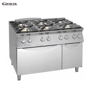 Giorik Unika 700 6 Burner Gas Range On Electric Oven And Neutral Cabinet CG760E