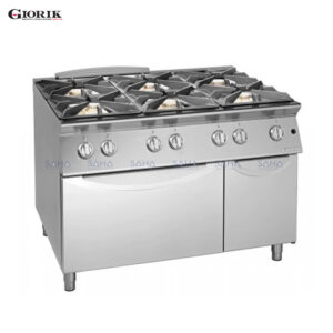 Giorik Unika 700 6 Burner Gas Range On Gas Oven And Neutral Cabinet CG760F