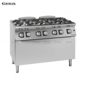 Giorik Unika 700 6 Burner Gas Range On Maxi Gas Oven CG760H