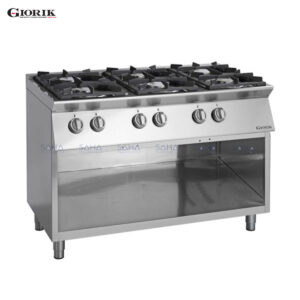 Giorik Unika 700 6 Burner Gas Range On Open Base Unit CG760G