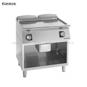 Giorik Unika 700 Electric Fry Top With Open Unit, Duplex 2304 Smooth Plate FLE741GX