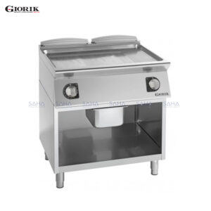 Giorik Unika 700 Electric Fry Top With Open Unit, Smooth and Ribbed Duplex 2304 plate FME741GX