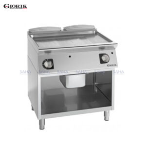 Giorik Unika 700 Gas Fry Top With Open Unit, Smooth and Ribbed Compound Plate FMG741GX