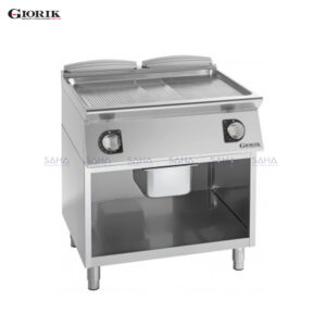 Giorik Unika 700 Electric Fry Top With Open Unit, Duplex 2304 Ribbed Plate FRE741GX