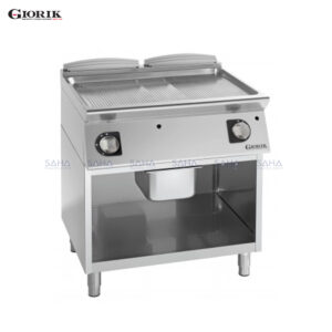 Giorik Unika 700 Gas Fry Top With Open Unit, Duplex 2304 Ribbed Plate FRG741GX