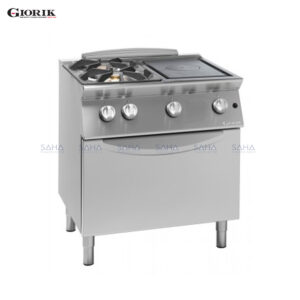 Giorik Unika 700 2 Burner Hob + Solid Top With Central Hole And Gas Oven TG74FTL