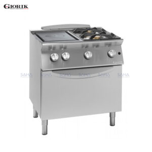 Giorik Unika 700 2 Burner Hob + Solid Top With Central Hole And Gas Oven TG74FTR