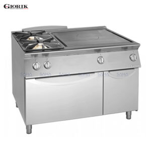 Giorik Unika 700 2 Burners + Gas Solid Top With Gas Oven TG76FTL