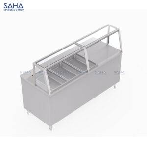 SAHA - Bain Marie With Glass Display Cabinet – SHFW101