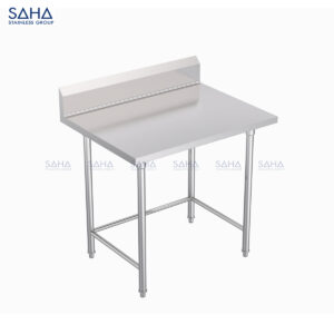 SAHA - Table With Bracing And Blacksplash (NSF Compliant) – SHWTNSF