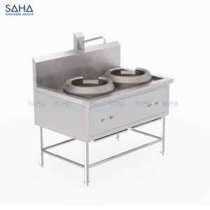 SAHA - 2 Burners Chinese Cooking Range – SHRG301