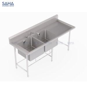SAHA - 2 Left-Hand Bowls Sink – SHSK205