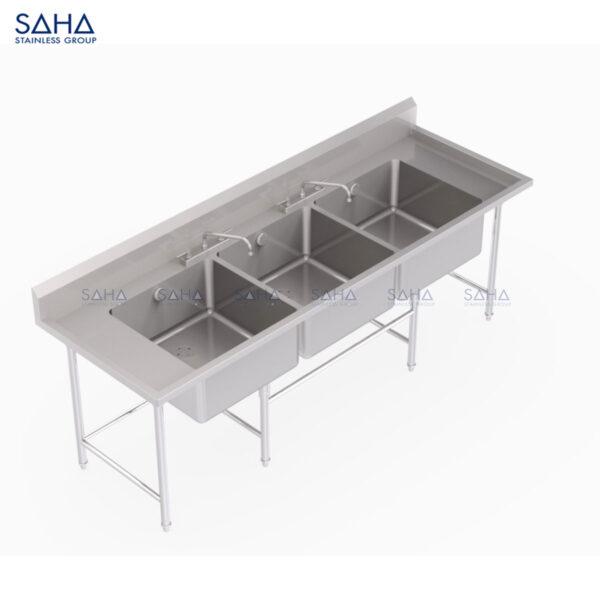 SAHA - 3-Bowl Pot Wash Sink – SHSK301
