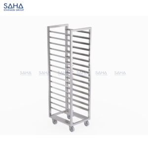 SAHA - Tray Trolley With Fixed 1-side Tray Guard - SHTL101