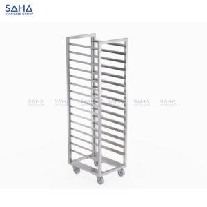 SAHA - Tray Trolley With Fixed 1-side Tray Guard - SHTL101