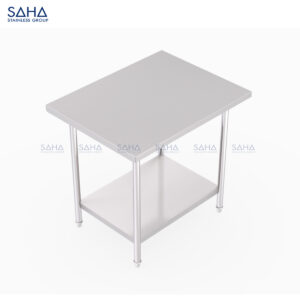 SAHA - Table With Bottom Shelf – SHWT201
