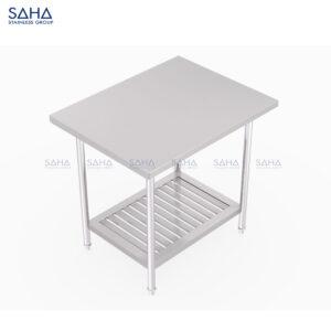 SAHA - Table With Slatted Bottom Shelf – SHWT301