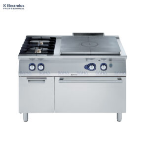 Electrolux  - 700XP - Gas Solid Top on Gas Oven with 2 Burners and cupboard - 371010