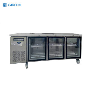 Sanden – 3 Glass Doors – Under Counter Chiller - SCR3-1806CR