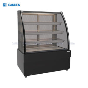 Sanden - Cake Showcase – Curved Glass 3 Shelfs – Black Color - SKK-0717Z