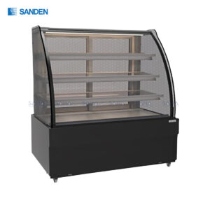 Sanden - Cake Showcase – Curved Glass 3 Shelfs – Black Color - SKK-0917Z