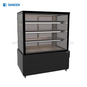 Sanden – Cake Showcase – Flat Glass 3 Shelfs – Black Color - SKS-0917Z