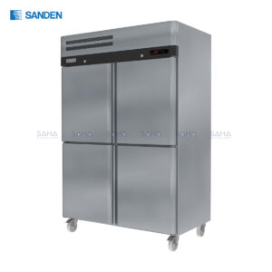 Sanden – 4 Doors - Reach – in Dual Temperature Chiller & Freezer - SRD3-1327-AS