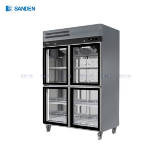 Sanden - 4 Glass Doors - Upright Chiller - SRR3-1327CR