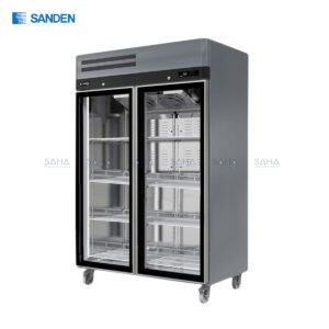 Sanden - 2 Glass Doors - Upright freezer - SRR3-1327DR