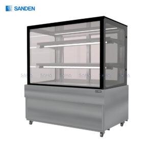 Sanden - Cake Showcase - Flat Glass 2 Shelfs - SKS-0907Y