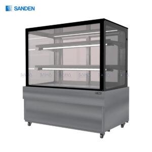 Sanden - Cake Showcase - Flat Glass 2 Shelfs - SKS-1207Y
