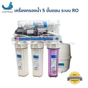Unipure Blue เครื่องกรองน้ำ 5 ขั้นตอน ระบบ RO ขนาด 75 GPD รุ่น 1307012