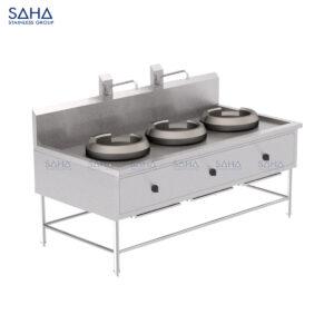 SAHA - Automatic 3-Burner Chinese Range - SHRG331A